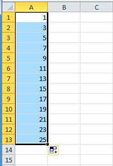 Ця послідовність чисел створена за допомогою засобу автозаповнення 2f27e7c484366